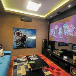 Projeto sala de tv com projetor